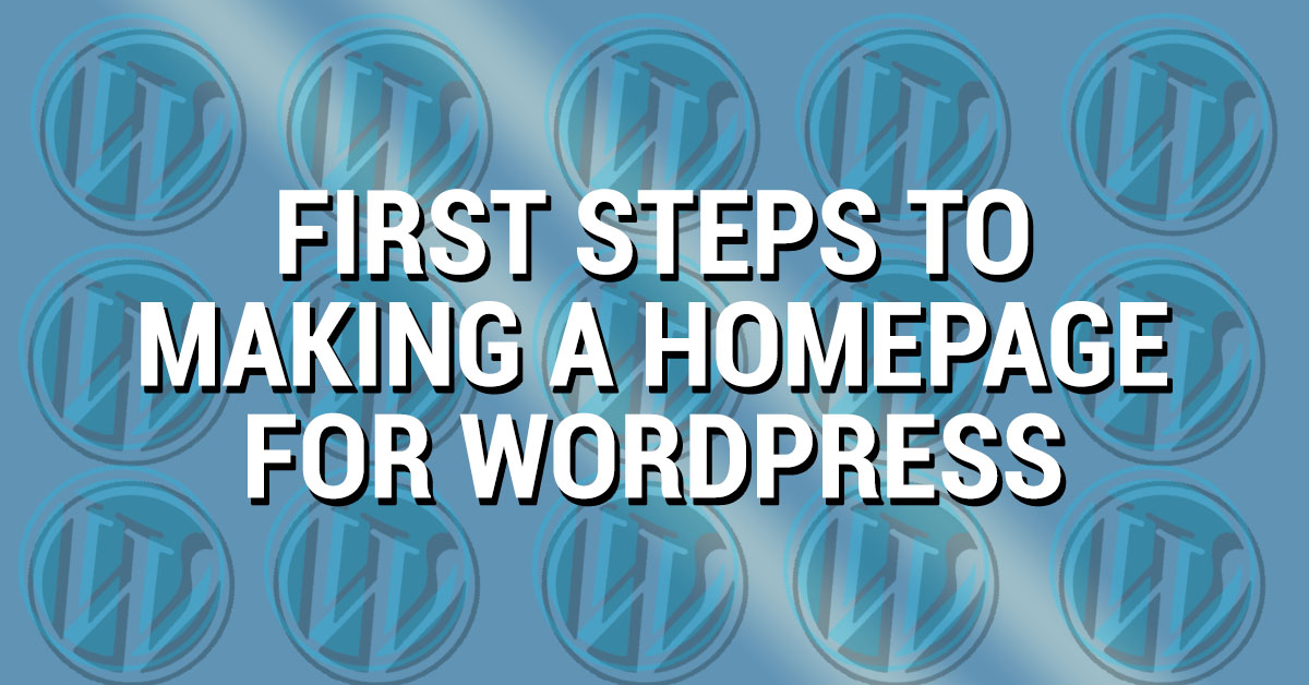 Feature image for homepage wordpress guide