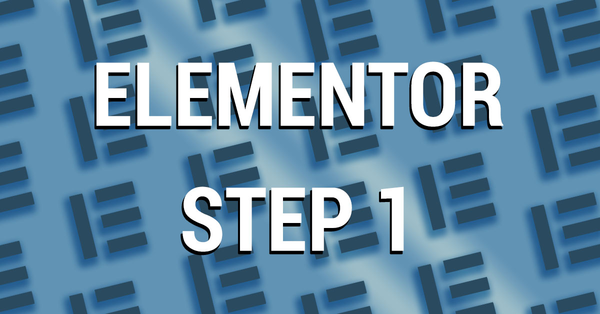 elementor step 1 cover